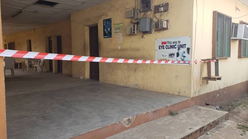 Barricaded section for Agege centre